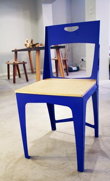 Jared Odell Blue Fulbrite Chair