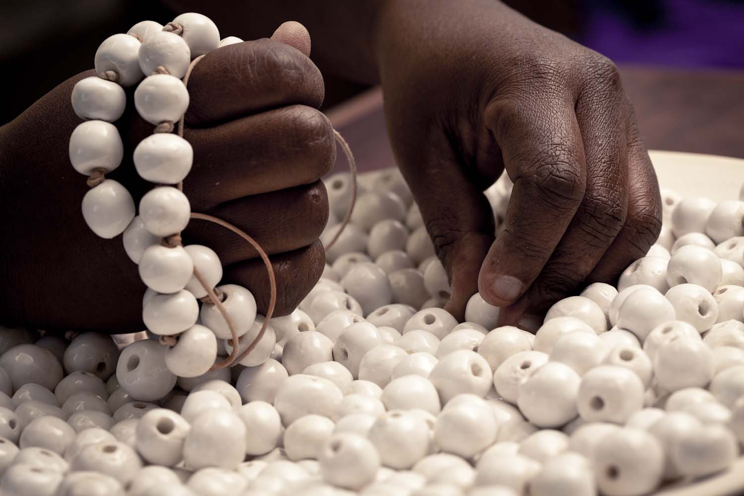 Hellooow handmade chandeliers our chandeliers are made from our hand rolled ceramic beads either in their raw natural form or else they can be coloured to spec retaining their natural arubaitofo Choice Image