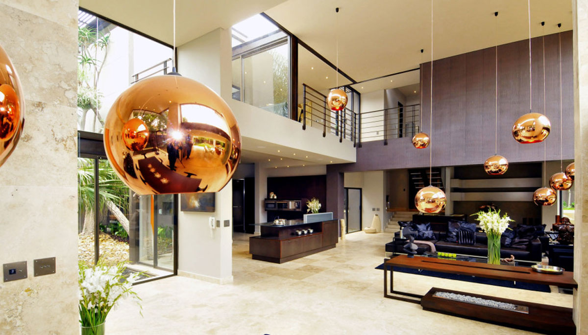 Morningside House - Nico van der Meulen - copper balls