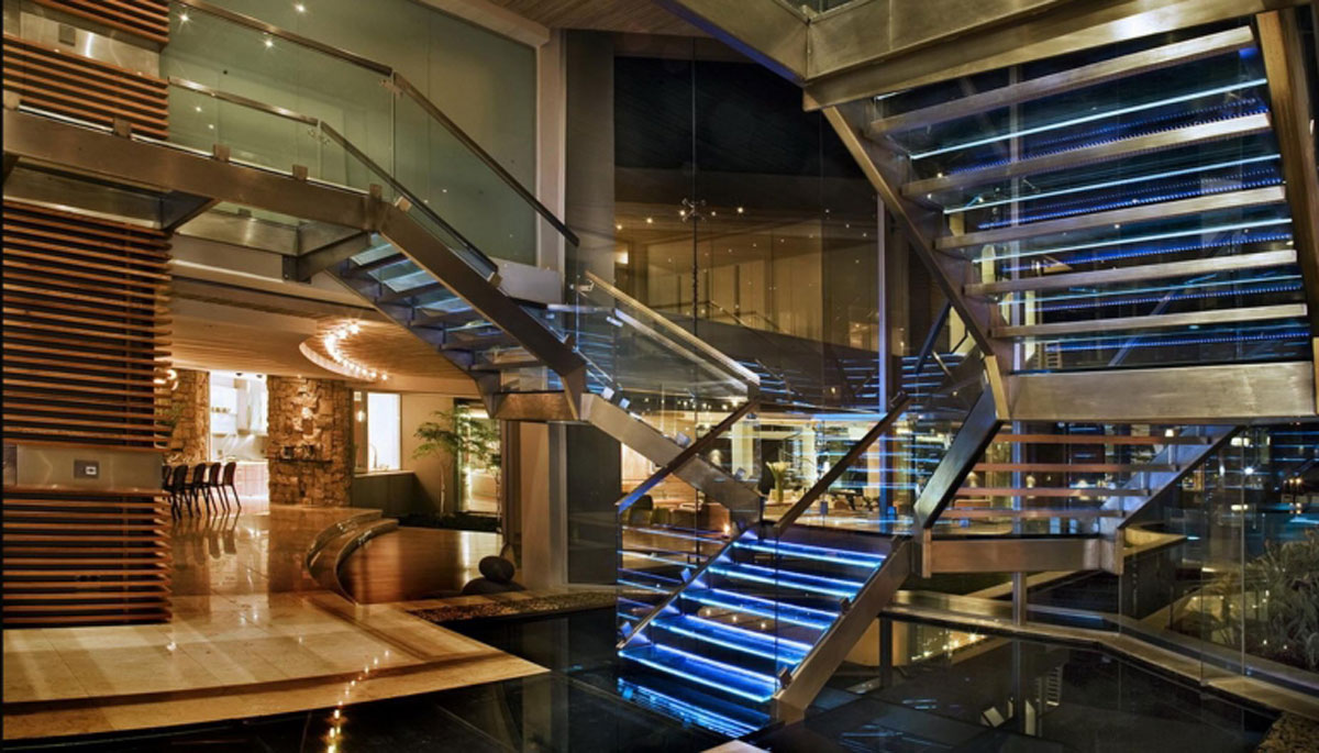 Glass House by Nico van der Meulen - staircase
