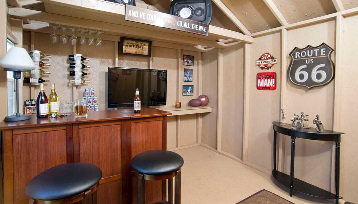 Alternative Uses for Garden Shed -- Man Cave